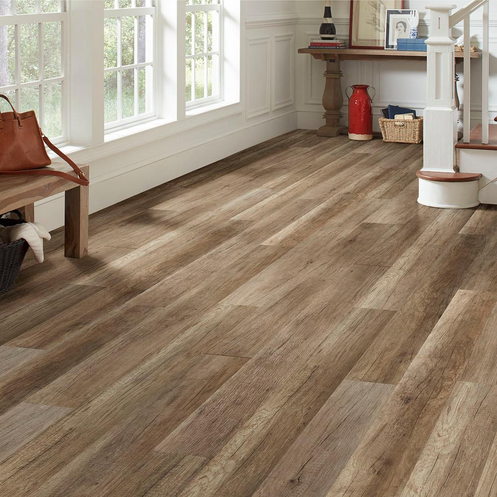 Home Decorators Collection Embossed Greystone Oak 12 Mm Thick X 6 5 In Wide X 47 80 In Length La Oak Laminate Laminate Flooring Colors Wood Laminate Flooring