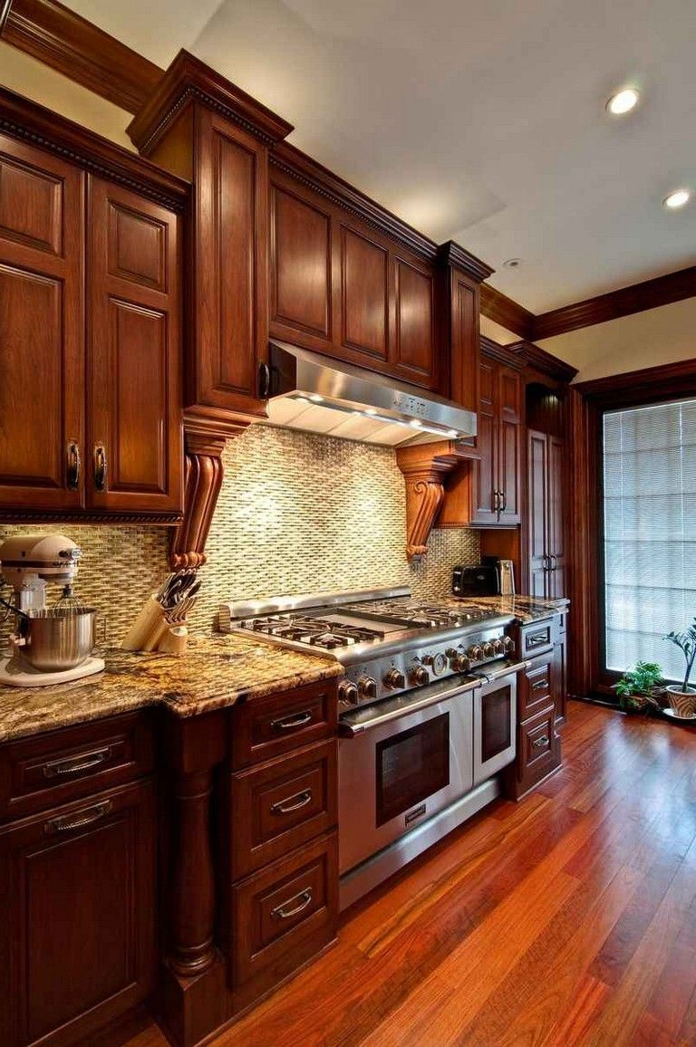 30 Admirable Cherry Wood Cabinets Kitchen Cherry Wood Cabinets Cherry Wood Kitchens Kitchen Cabinets And Flooring