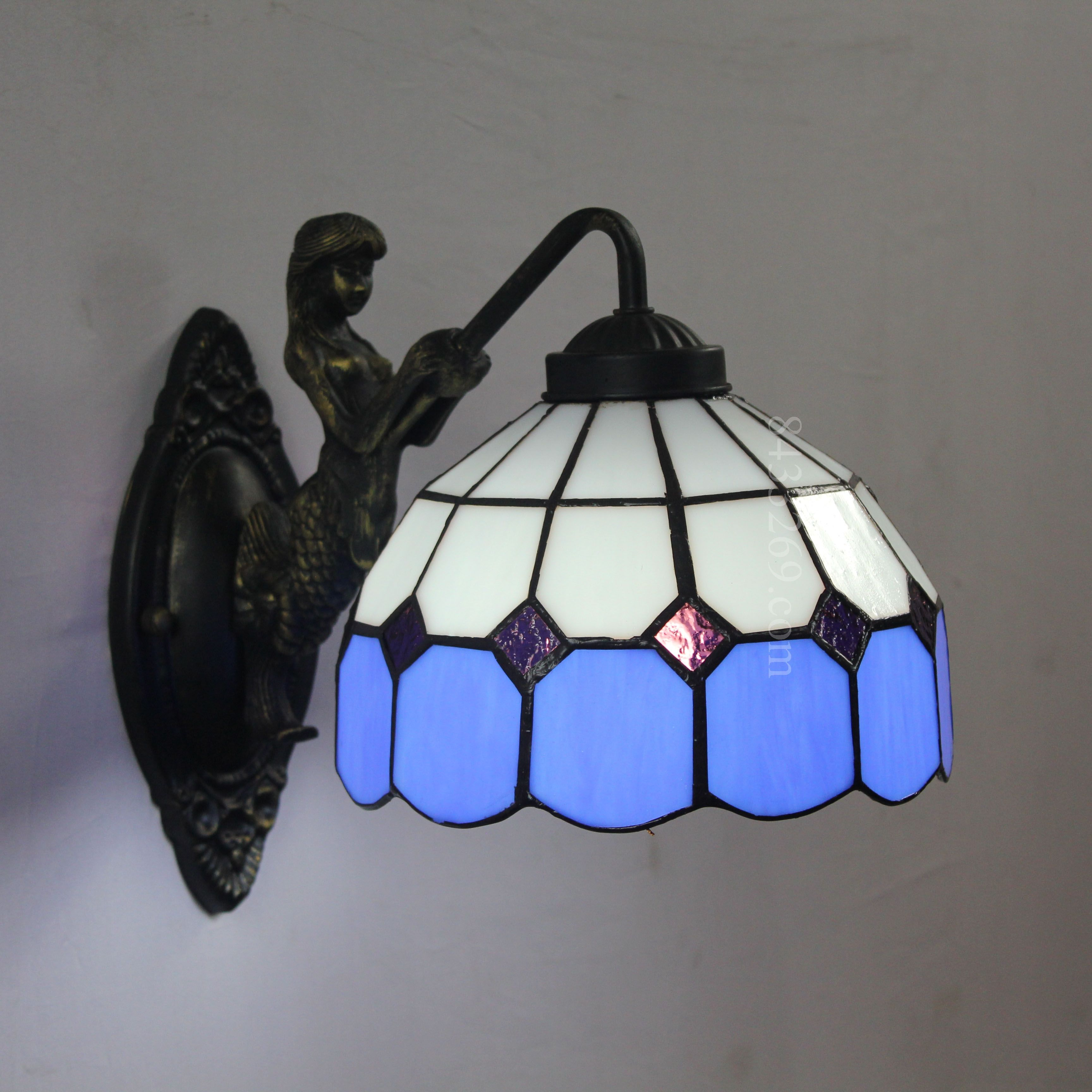 Grid Tiffany Lamp 8s9 1bw1 Lamp Sconce Lamp Glass Wall Sconce