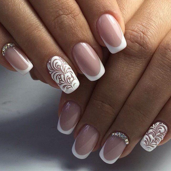 Beautiful wedding fashion design nails #follow #share #nail #art ...