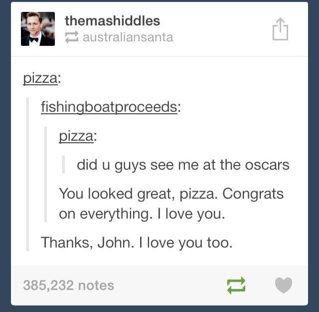 John Green and Pizza.