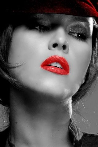 Download Free Red Lips Beauty Face Iphone Wallpaper Mobile