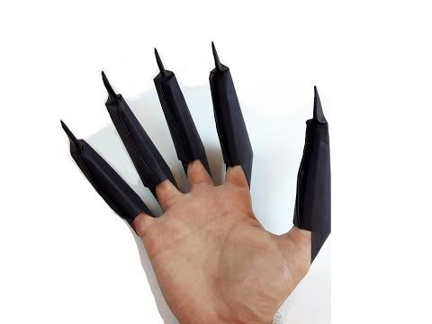 How To Make A Paper Black Panther Claws