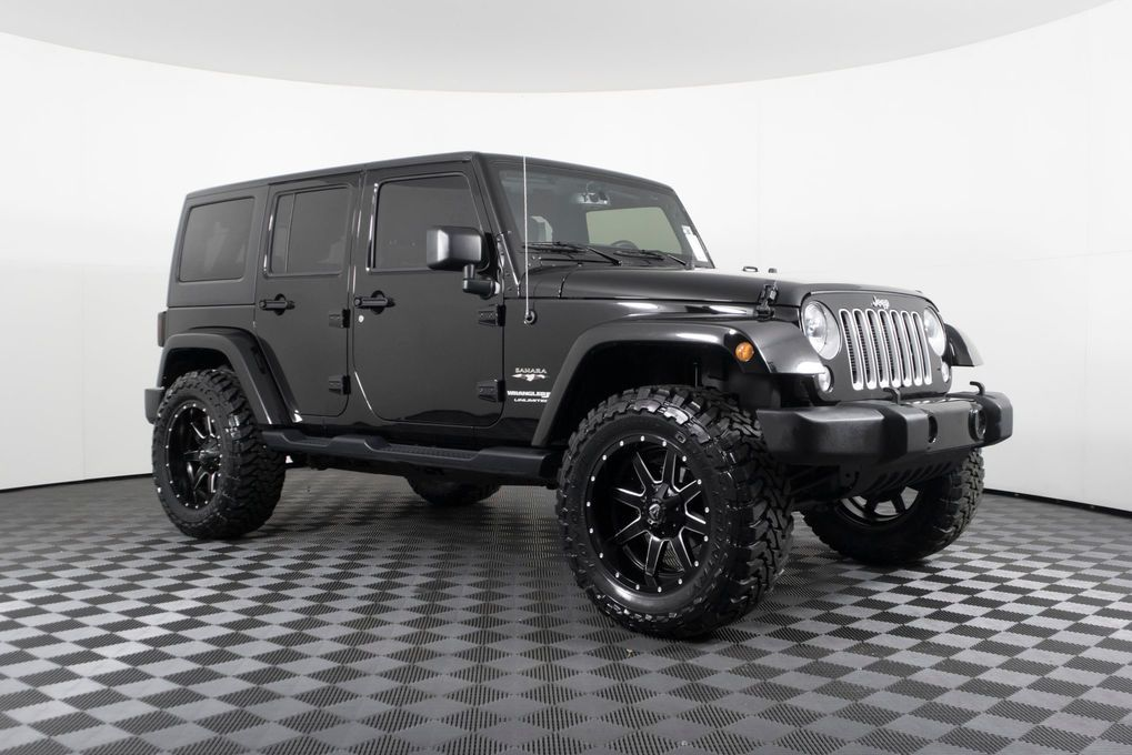 Used Lifted 2018 Jeep Wrangler Unlimited Sahara 4x4 With 13 453