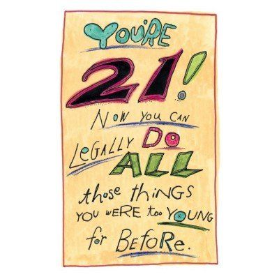 21 Years Old Happy 21st Birthday Cards Greeting Card