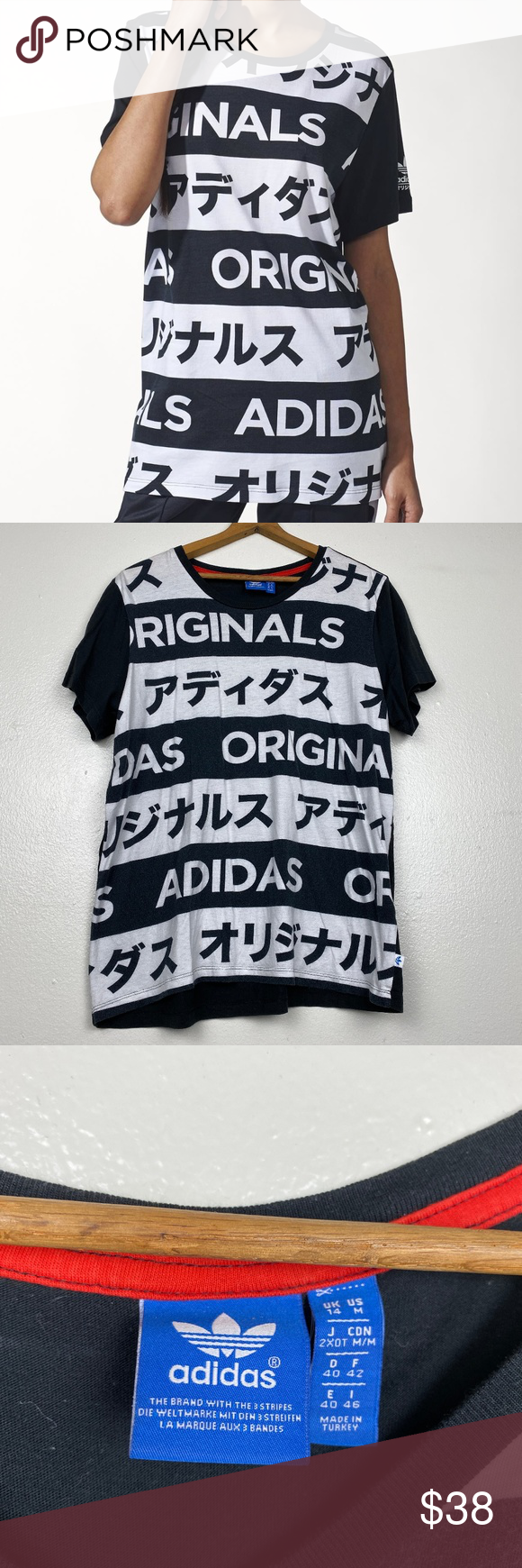 Adidas Originals Allover Typo Tee Clothes Design Typo Tees Tees [ 1740 x 580 Pixel ]