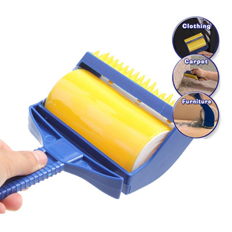 Aslt高品質ゴム粘着ピッカークリーナー再利用可能なキャッチャーローラー内蔵指ブラシスティッキーバディ送料無料