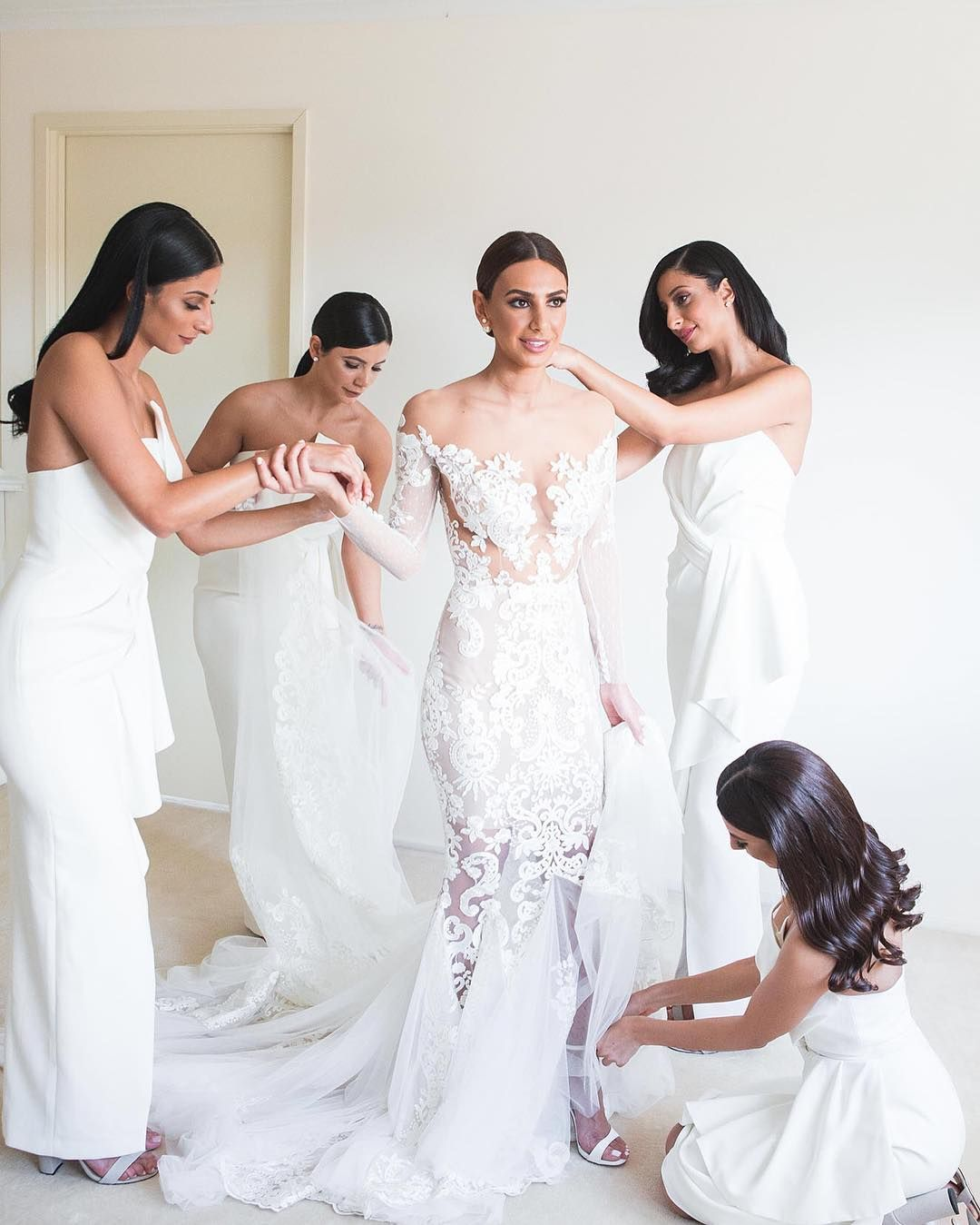 Gorgeous dress for wedding party  Gorgeous bride Merna with her bridesmaids in the Stellina Dress