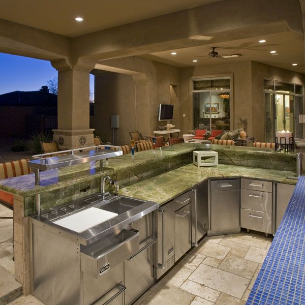 Luxury Outdoor Kitchen Full Service Bar Pic 2 Of 2 Outdoor Kitchen Luxury Outdoor Kitchen Outdoor Kitchen Plans