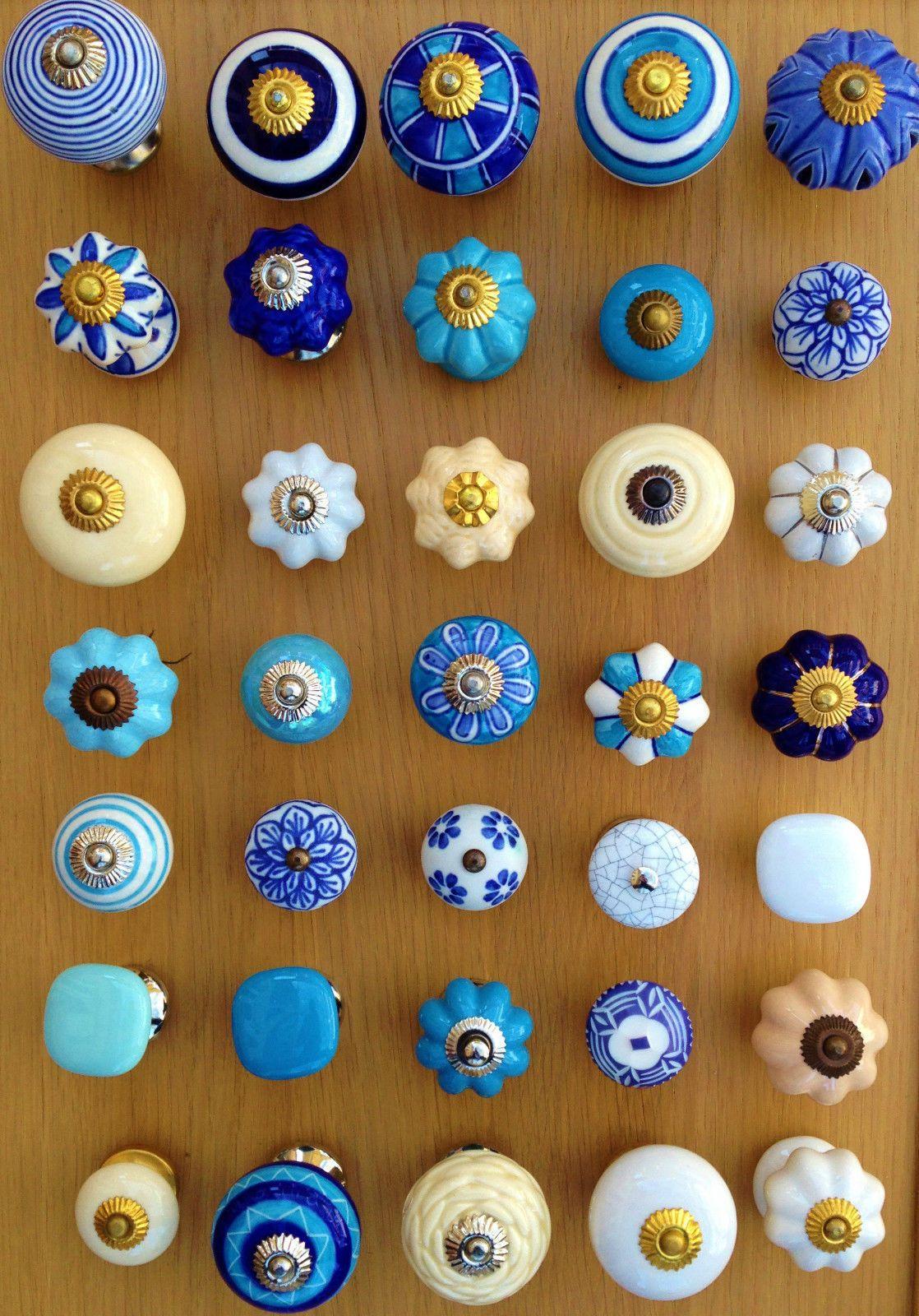 Ceramic Cabinet Knob Cupboard Pull Door Handle Kitchen Hardware Drawer Decor