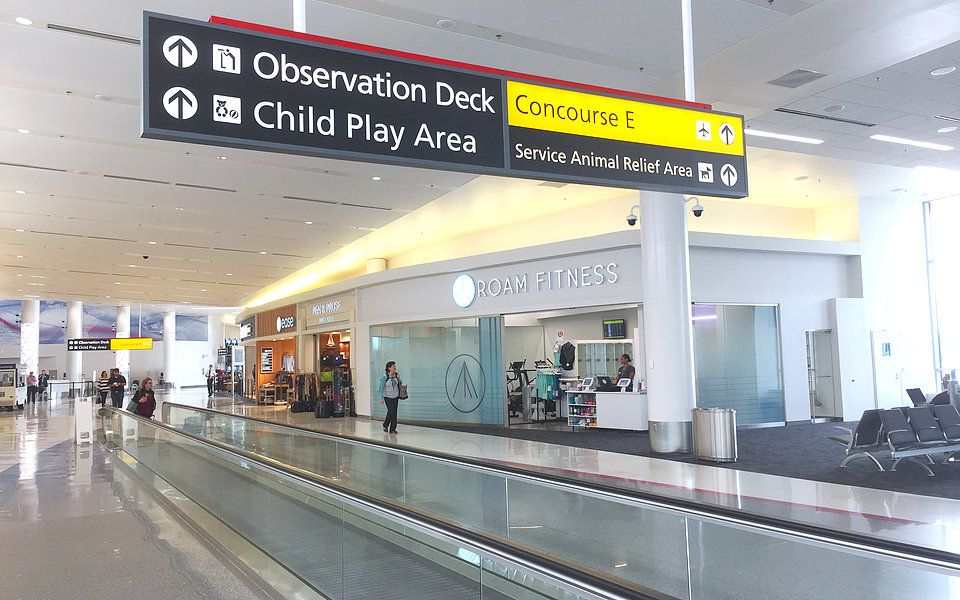 We put gym and shower facilities into airports, behind