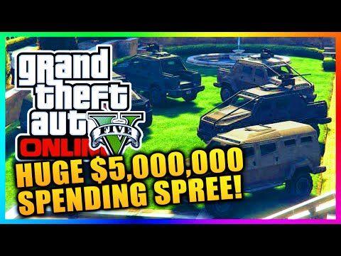 GTA 5 Heists DLC Online - HUGE $5,000,000 SPENDING SPREE! BUYING HEIST CARS, GEAR & MORE! (GTA V) - http://goo.gl/auOvUT