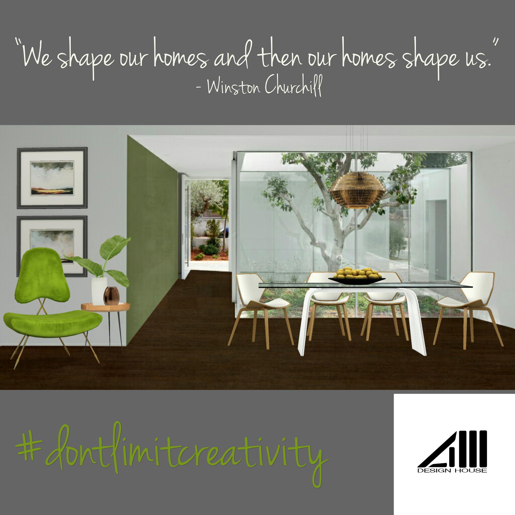 Greenery Interior Design Inspiration Quote Graphic Interior