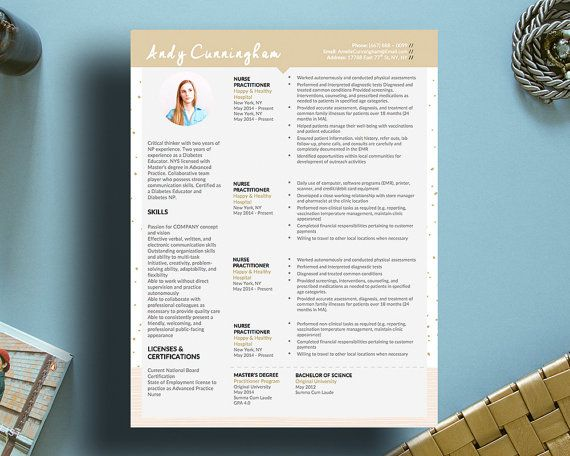 Andy Cunningham Modern Resume and Matching Cover Letter Template for