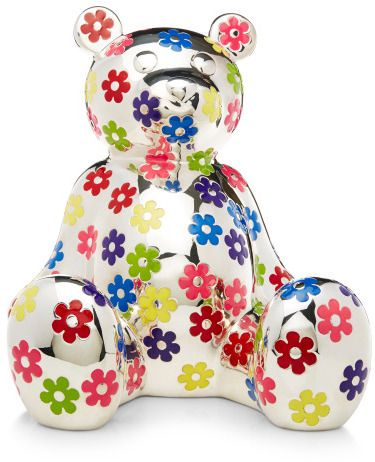 Asprey Pop Art Sterling Silver Teddy Bear Bank Multi: The eponymous British maker of fine jewelry and luxury goods since 1781, Asprey , puts forth their hallmark teddy bear bank in hand-painted floral enamel exclusively for Moda Operandi. Expertly designed by Julian Cross and handcrafted from sterling silver in one of Asprey's centuries-old New Bond Street workshops, this treasure will be a prized family heirloom for many generations to come. Sterling Silver Made in London