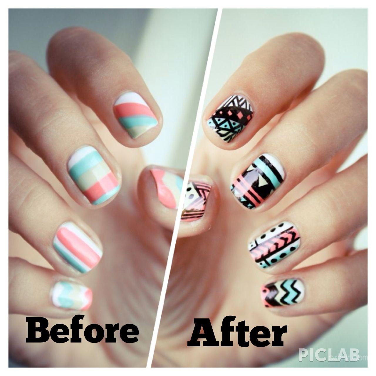 Super easy nails using a sharpie nails pinterest mani pedi