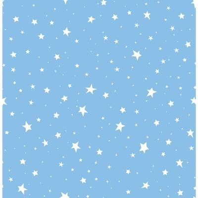 Brewster Sky Blue Stars Sky Blue Paper Strippable Roll (Covers 56.4 sq. ft.) 2679-002123 - The Home Depot
