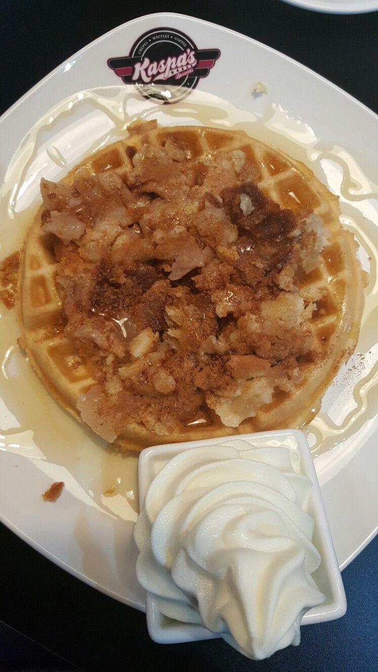 Waffle crumble @ Kaspas desserts   breakfast <3 in 2019