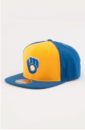 2527e78dae6 Men s American Needle  Milwaukee Brewers 1978 - 400 Series  Snapback  Baseball Cap - Blue