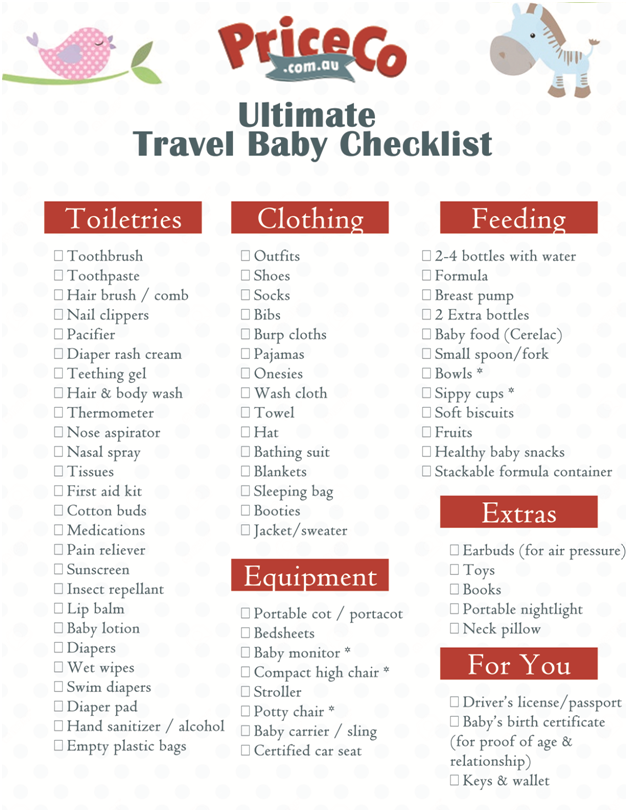 checklist for vacation