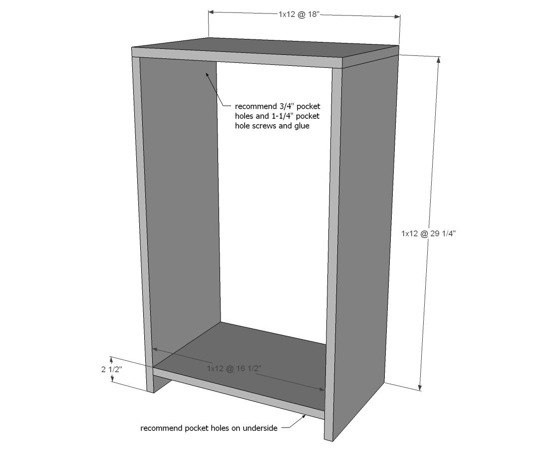 Wood Tilt Out Trash or Recycling Cabinet | Wooden trash ...