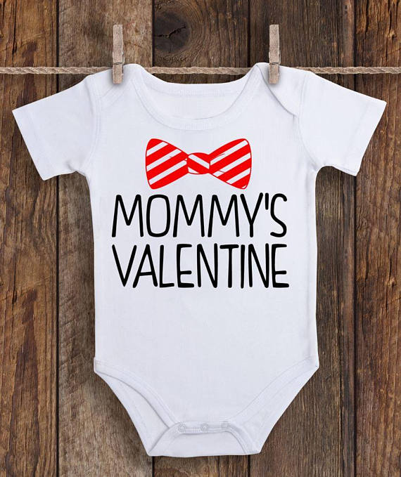 cfa46a6ba Mommy's Valentine Onesie, Mommy's Valentine, Valentine's Day Onesie, First  Valentine's Day Boy, Baby