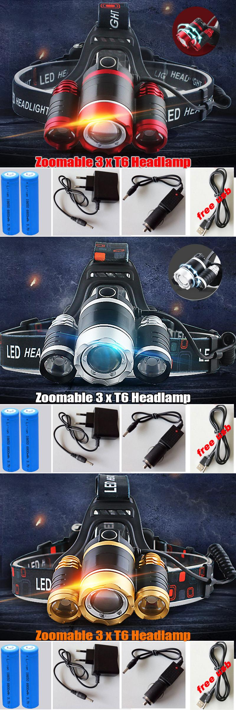 visit to 3 cree xm l t6 led headlamp headlight lumens