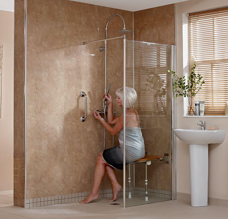 Aquarius wet room | Sit down showers | Pinterest | Shower guides ...