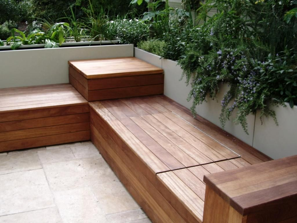 Fresh Balcony Storage Bench