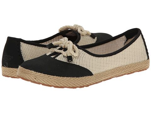 Womens Shoes UGG Catrin Crochet Black/Textile/Nubuck