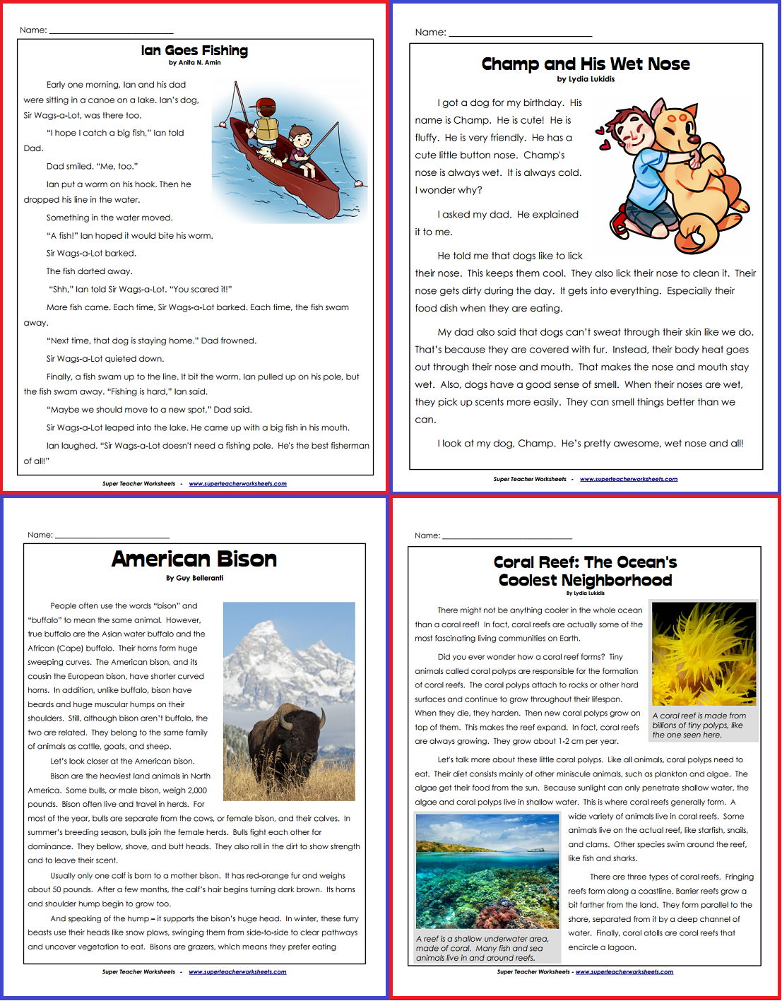 Stw Has A Wonderful Collection Of Reading Comprehension Articles For 1st Through 5th Grades