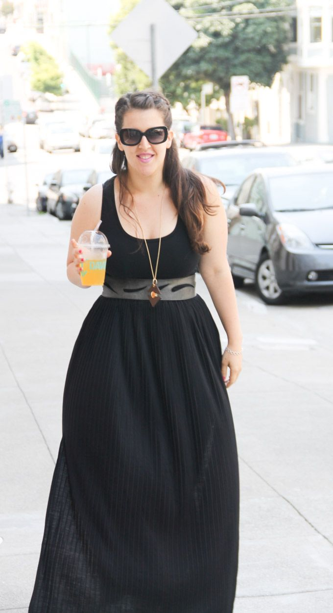 Plus Size Maxi Dress for Pear-Shaped