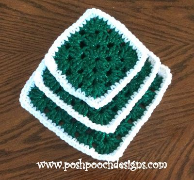 Chunky Granny Square Christmas Tree Crochet Pattern in 2018 | Crafts ...