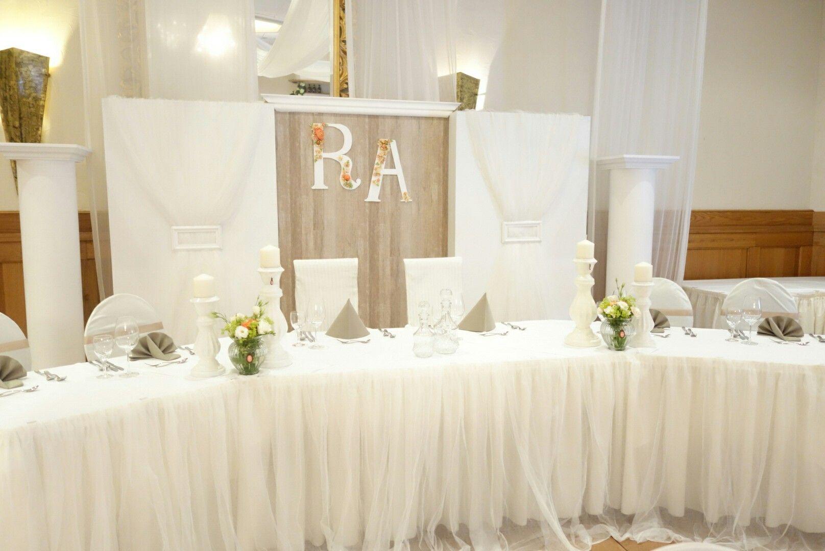 Hochzeitsdeko taupe koralle wedding by o s dekor for Silberhochzeit deko ideen