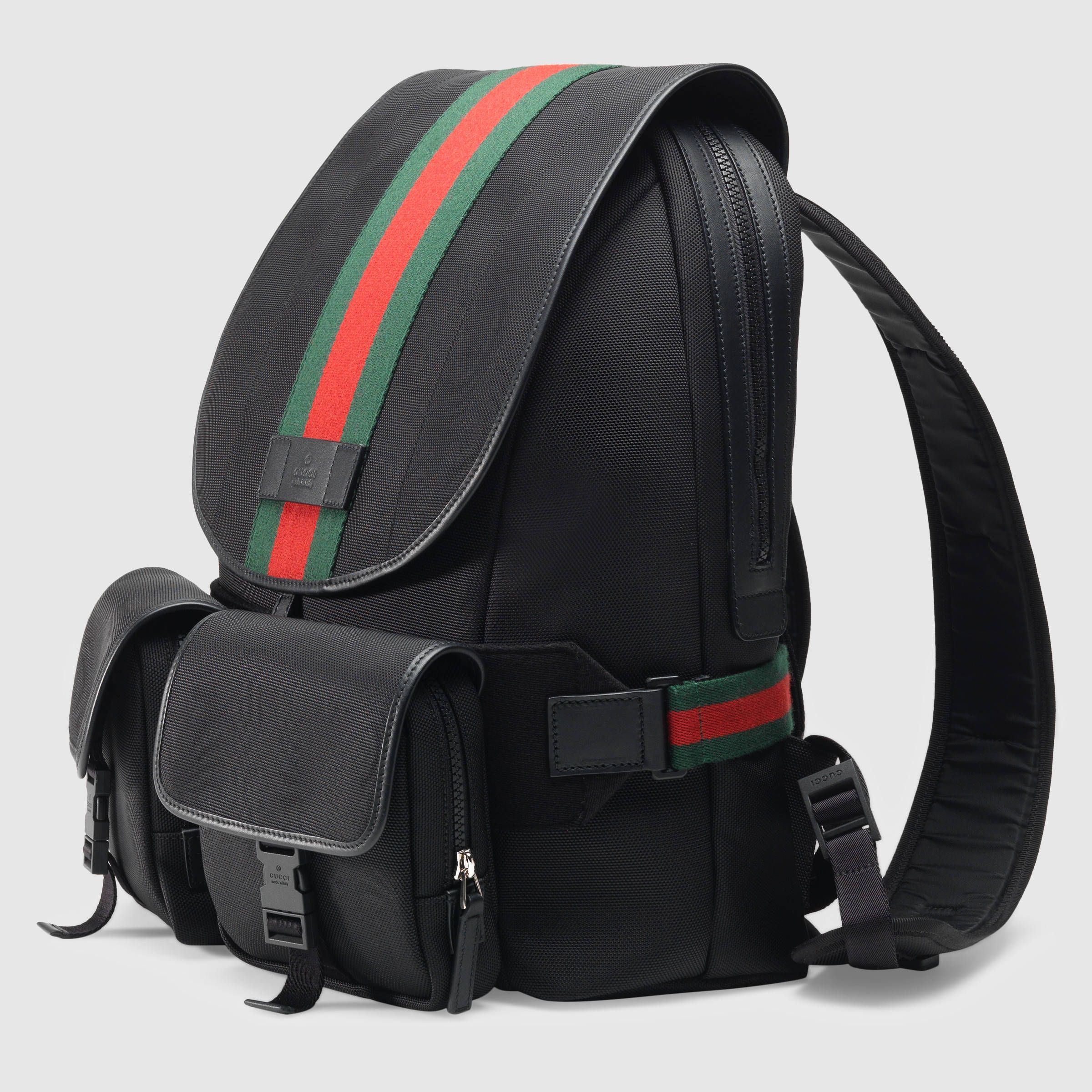 1bb317a67a3 GUCCI® Web Band Canvas Backpack   Bags   Pinterest   Backpacks, Bags ...