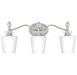 Photo of Quoizel HS8603BN Brushed Nickel Hollister 3 Light 23″ Wide Bathroom Vanity Light