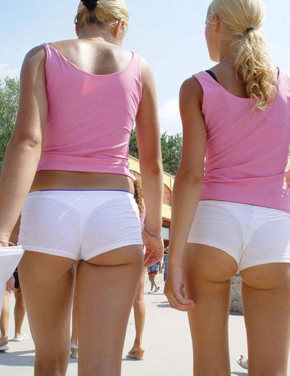 See thru short shorts. Vote Right or left? Join CreepShots.com for ...