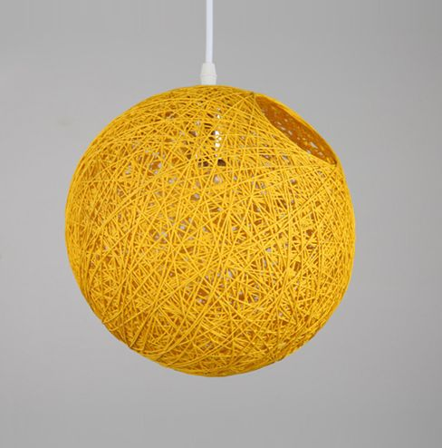 16 Round Wicker Rattan Woven Ceiling Pendant Lampshade Light