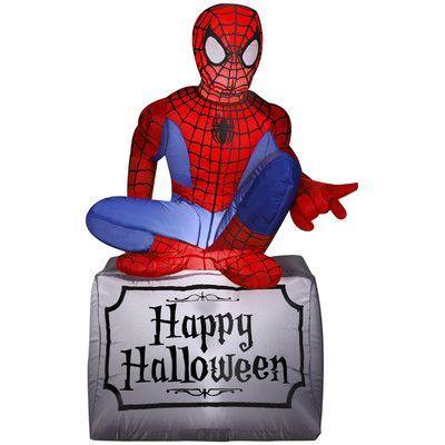 Gemmy Industries Spider-Man Airblown Inflatable Halloween Decoration - inflatable halloween decoration