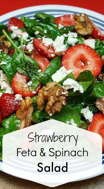 Strawberry Feta Spinach Salad - Best Food Recipes