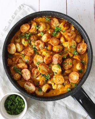 Tortillaruller Med Rejer Salat Flødeost Og Karrydressing
