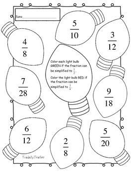 math worksheet : simply fraction worksheet  christmas  maths fdp  pinterest  : Fraction Coloring Sheets Christmas