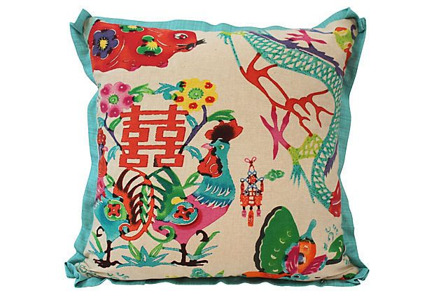 Colorful Chinoiserie Pillow Ohhh Chinoiserie Pinterest