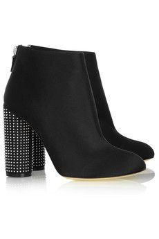 Stella McCartney Stud-Heeled satin ankle boots from Net-a-Porter