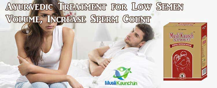 What increases sperm volume
