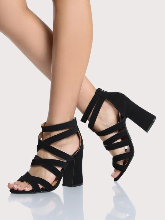 7445d6cbe3fb30 Black Strappy Heels