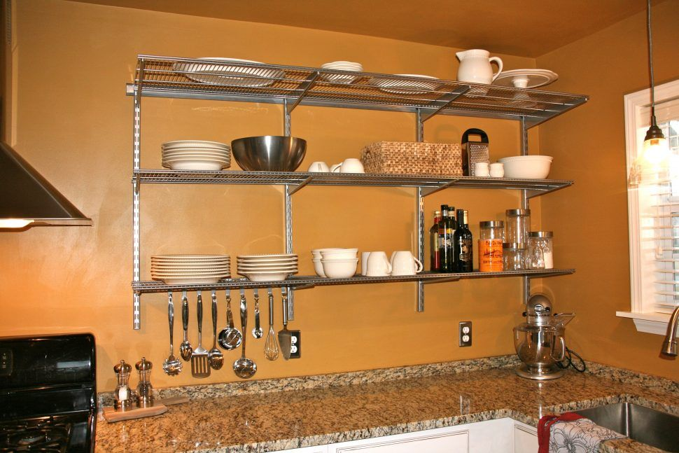 Shelves Awesome Wire Shelving For Kitchen Cabinets With Cabinet