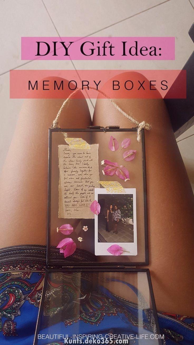 Luxuriöse DIY: Memory Päckchen mit hängendem Glasrahmen (ideales Geschenk zu Gunsten von sie!... #presentsforboyfriend