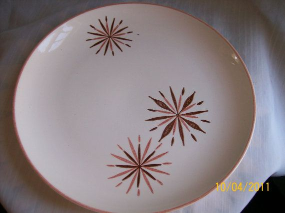SALE  Stetson Pottery Atomic Plate Pink by WhiteShepherd on Etsy, $9.10