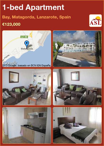 1 Bed Apartment In Bay Matagorda Lanzarote Spain 123 000 Propertyforinspain